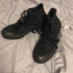 Black monochrome high top Converse